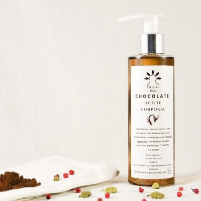 aceite corporal chocolate de natural issie
