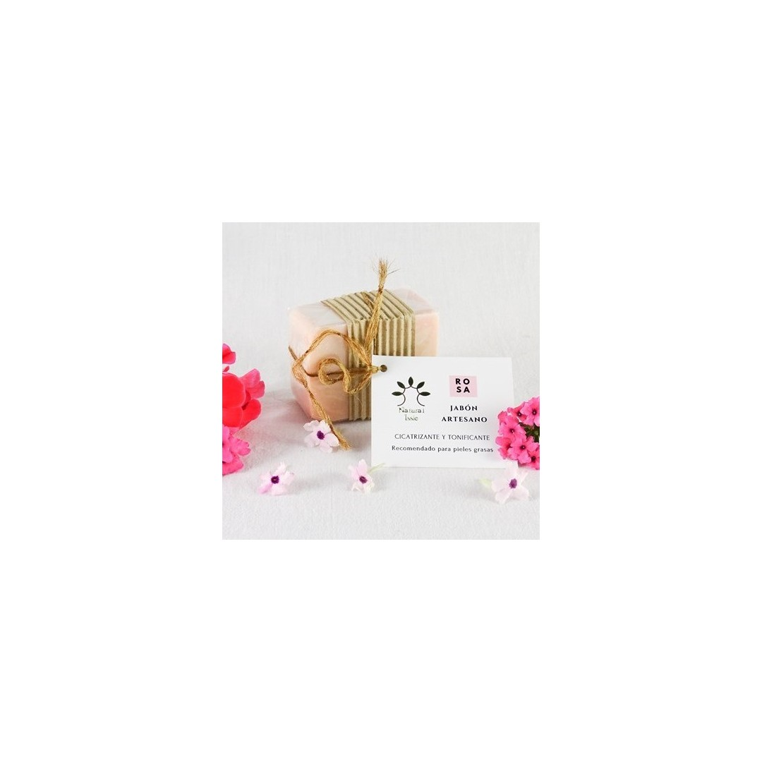 jabon artesanal natural rosa mosqueta, de natural issie