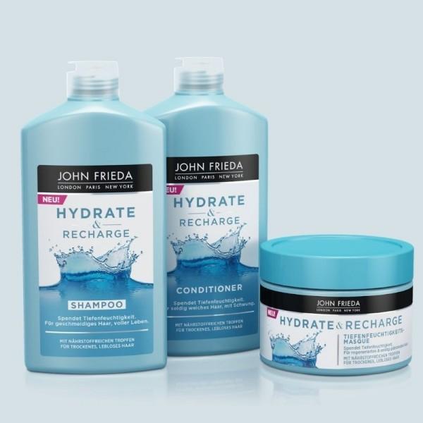 JOHN FRIEDA Pack Hydrate & Recharge (Champú + Acondicionador + Mascarilla)